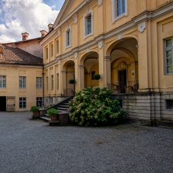 The main building inside the castle
