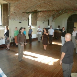 Class in the main dance space 2008